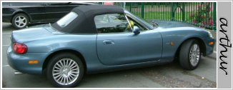 picture of the MX5 before modifications