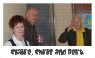 picture of claire, chris and bert - my fellow students