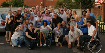 group picture of party goers - click on picture to enlarge