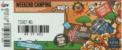 picture of my V festival ticket