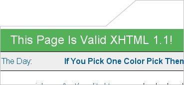 picture of xhtml validated page